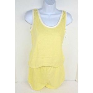 Vintage 1980's Terry Cloth Tank Top & Shorts Set